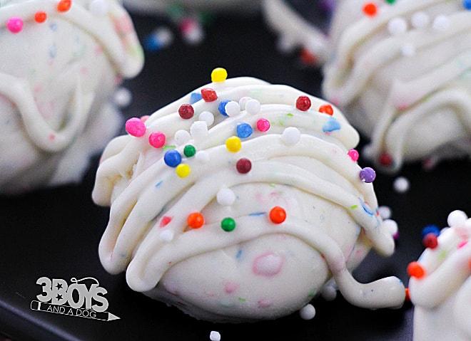 funfetti sugar cookie truffle ball