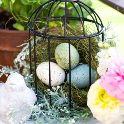 Add a Fresh Vignette with a Spring Bird Cage Pinterest Challenge