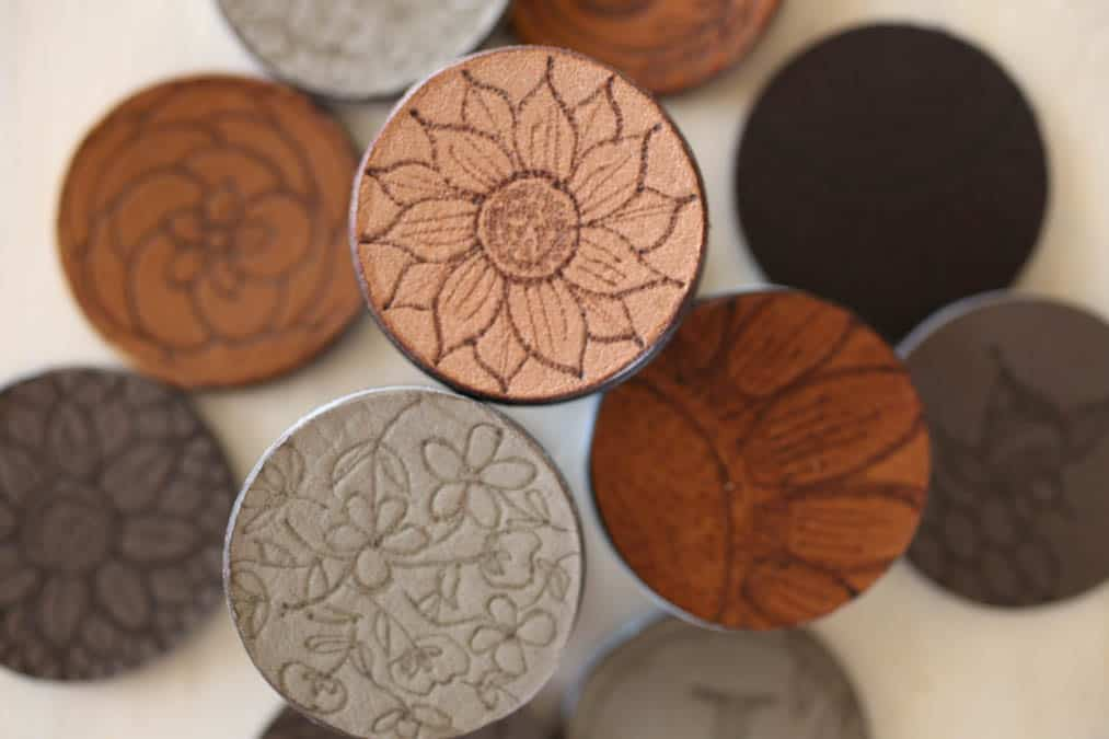 tuesday turn about 89 more spring embossed leather circles