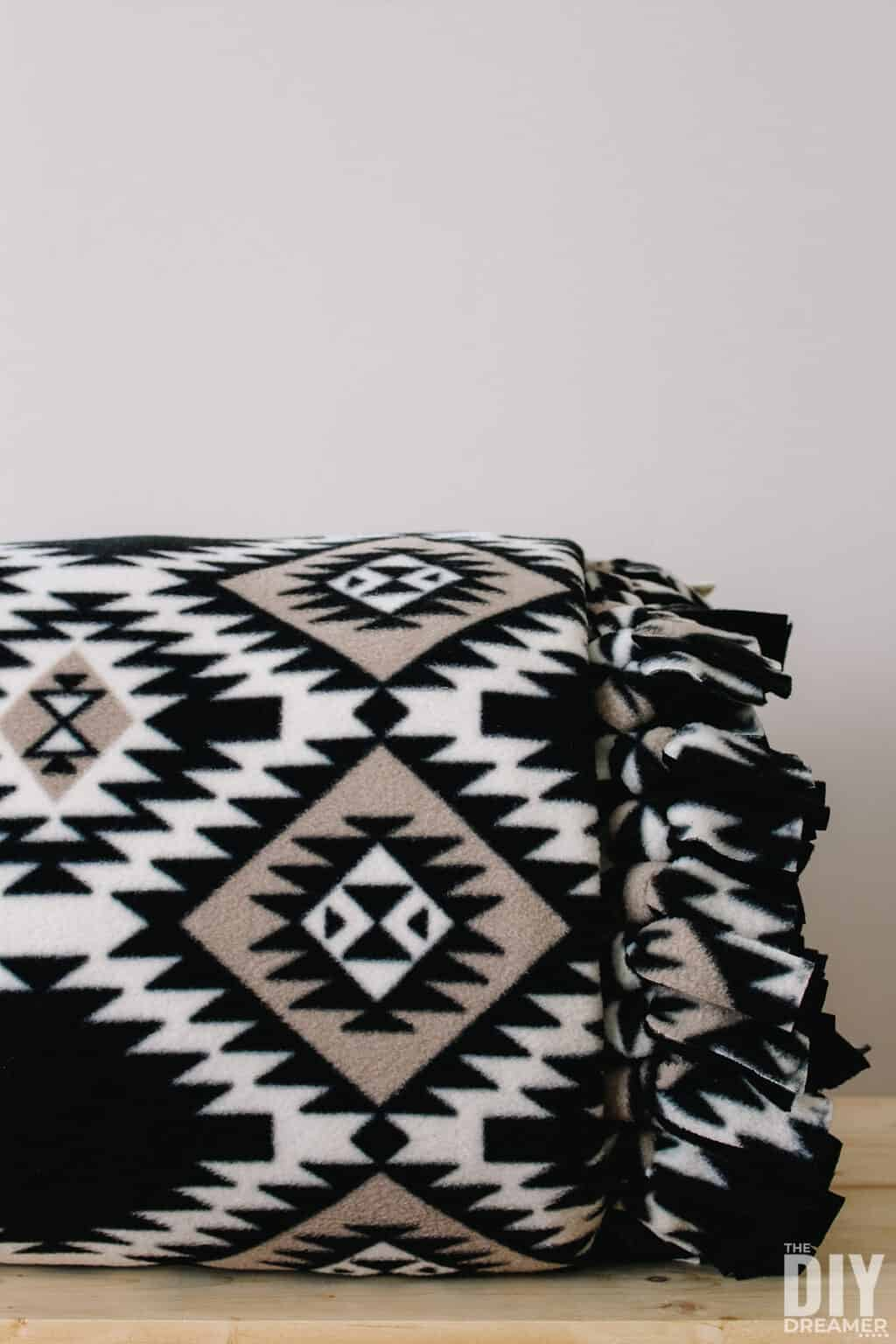 tuesday turn about 91 fleece blanket in geometric print