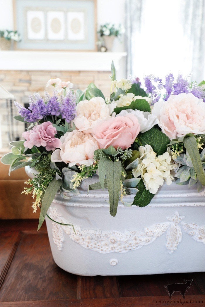 tuesday turn about 93 spring homes flowers in a french style tub