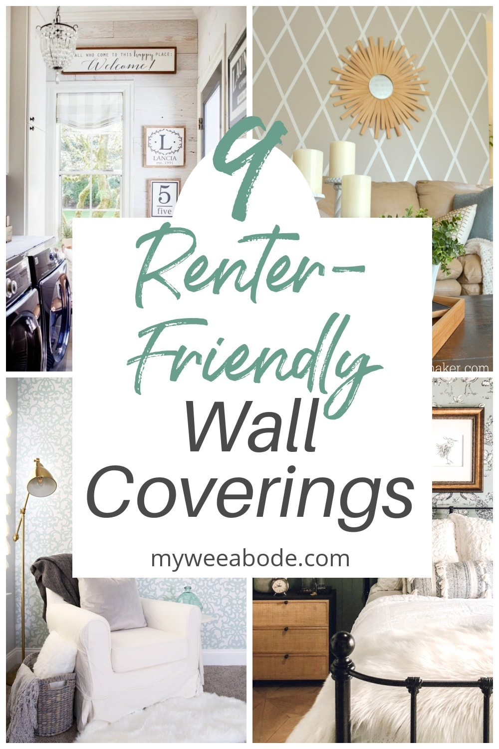 temporary wall coverings for your apartment collage