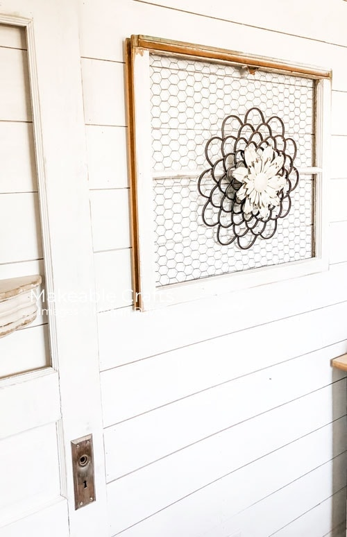 tuesday turn about 97 door decor inspo window pane with chicken wire and decorative element
