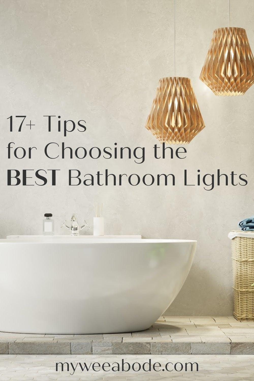 17 tips for choosing the best bathroom light fixture bathtub with pendant lights