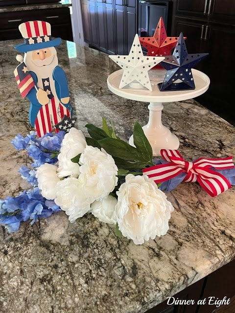 tuesday turn about 102 hello june patriotic vignette on kitchen counter
