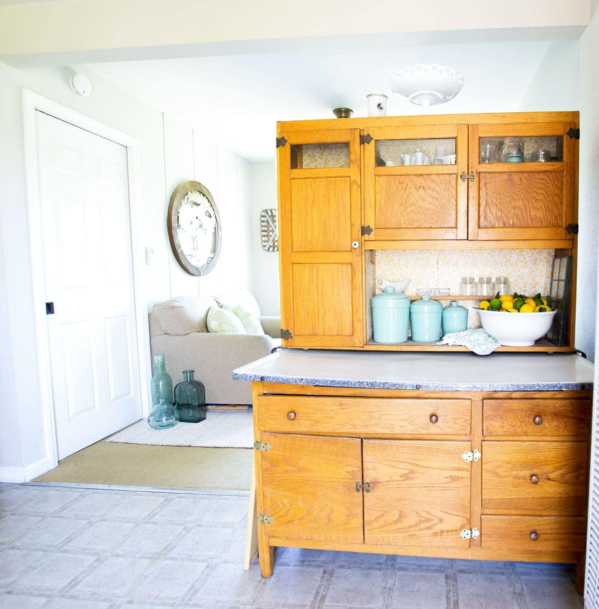 apartment summer decor tips bakers cabinet with summer elements and decor