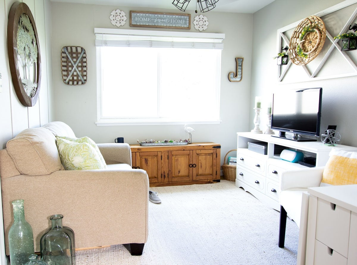 apartment summer decor tips living room with furniture and summer decor