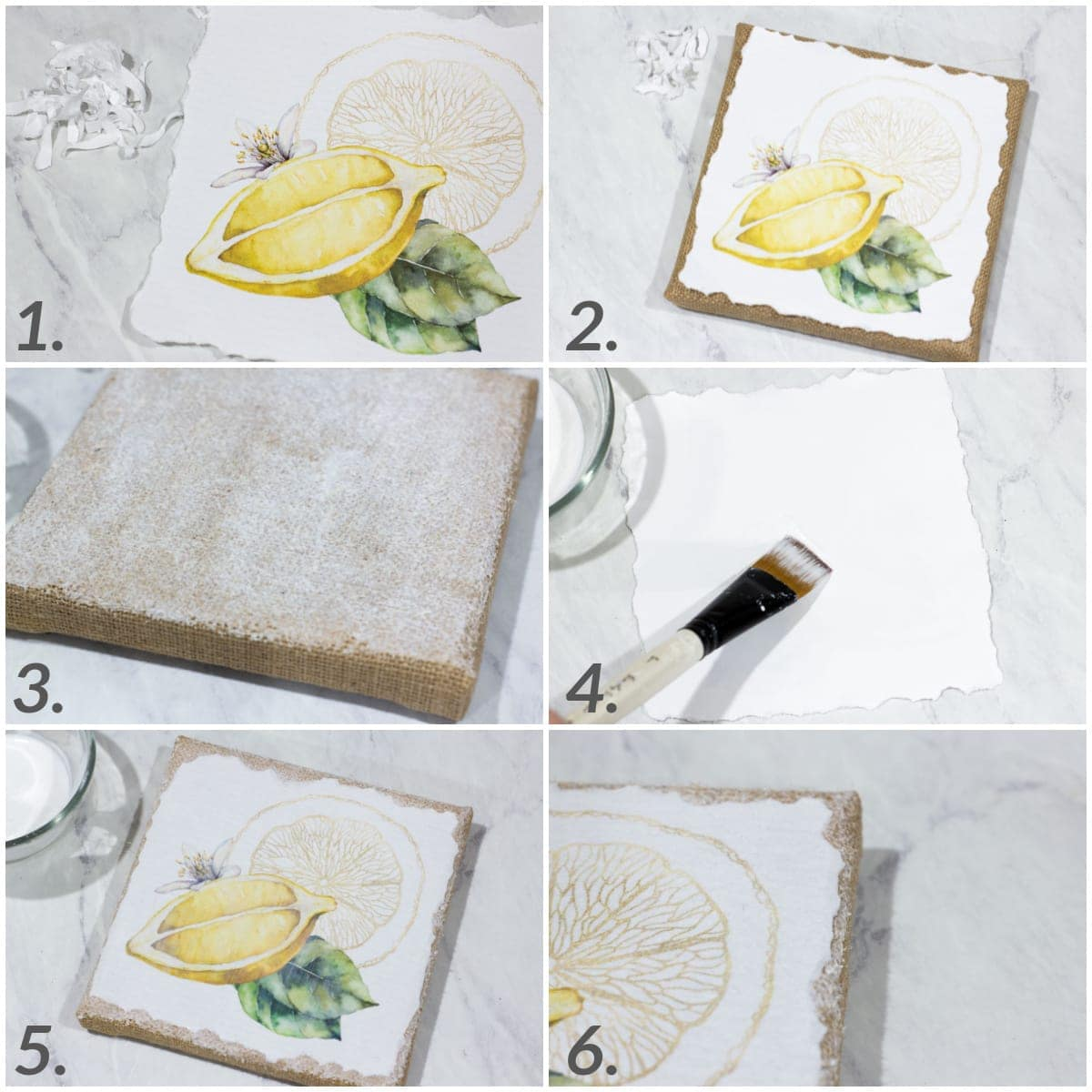 diy canvas printables step by step tutorial collage