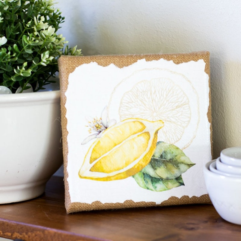 How to Make Canvas Wall Art with Free Printables