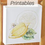 lemon summer printables on canvas