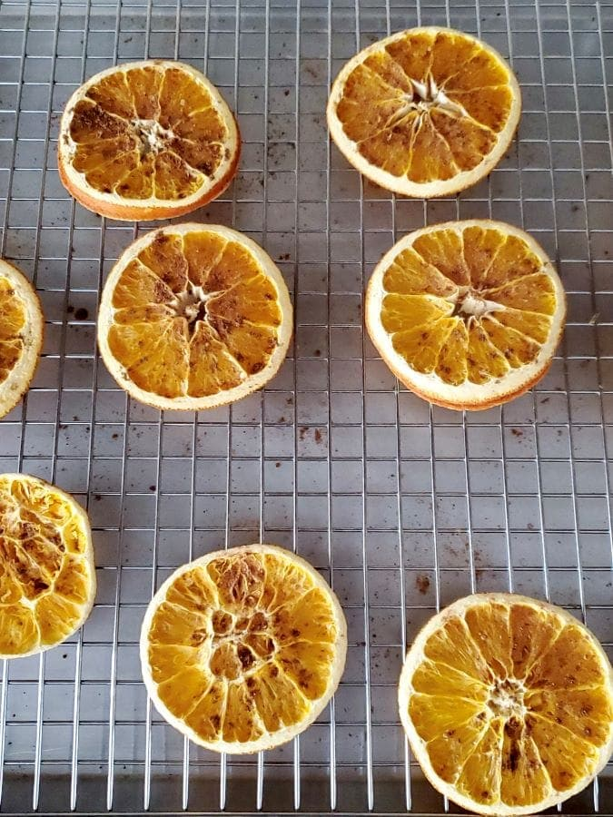 tuesday turn about 110 christmas in july dried oranges on wire tray