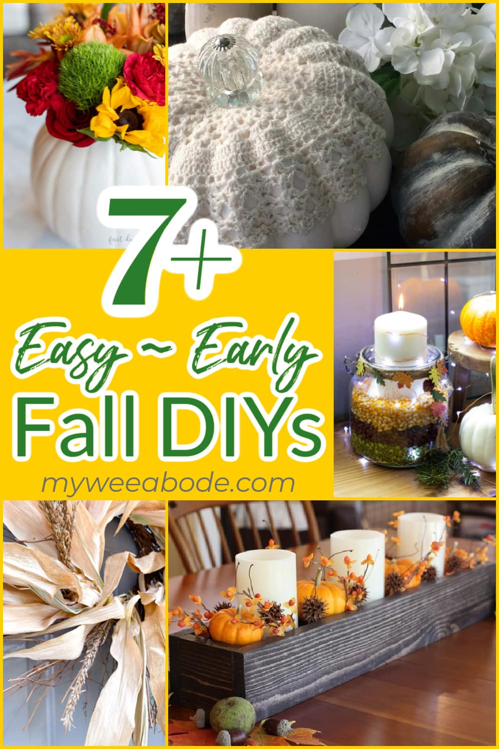 easy early fall diys collage