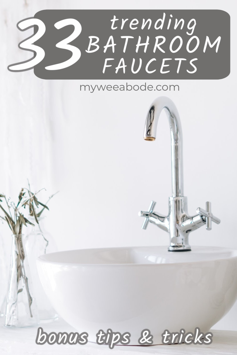 trending bathroom faucets buying guide sink with chrome faucet and vases with flowers