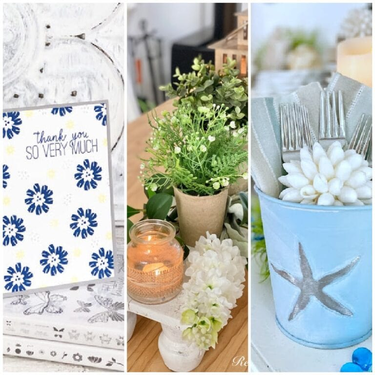 collage with summer decor and diys