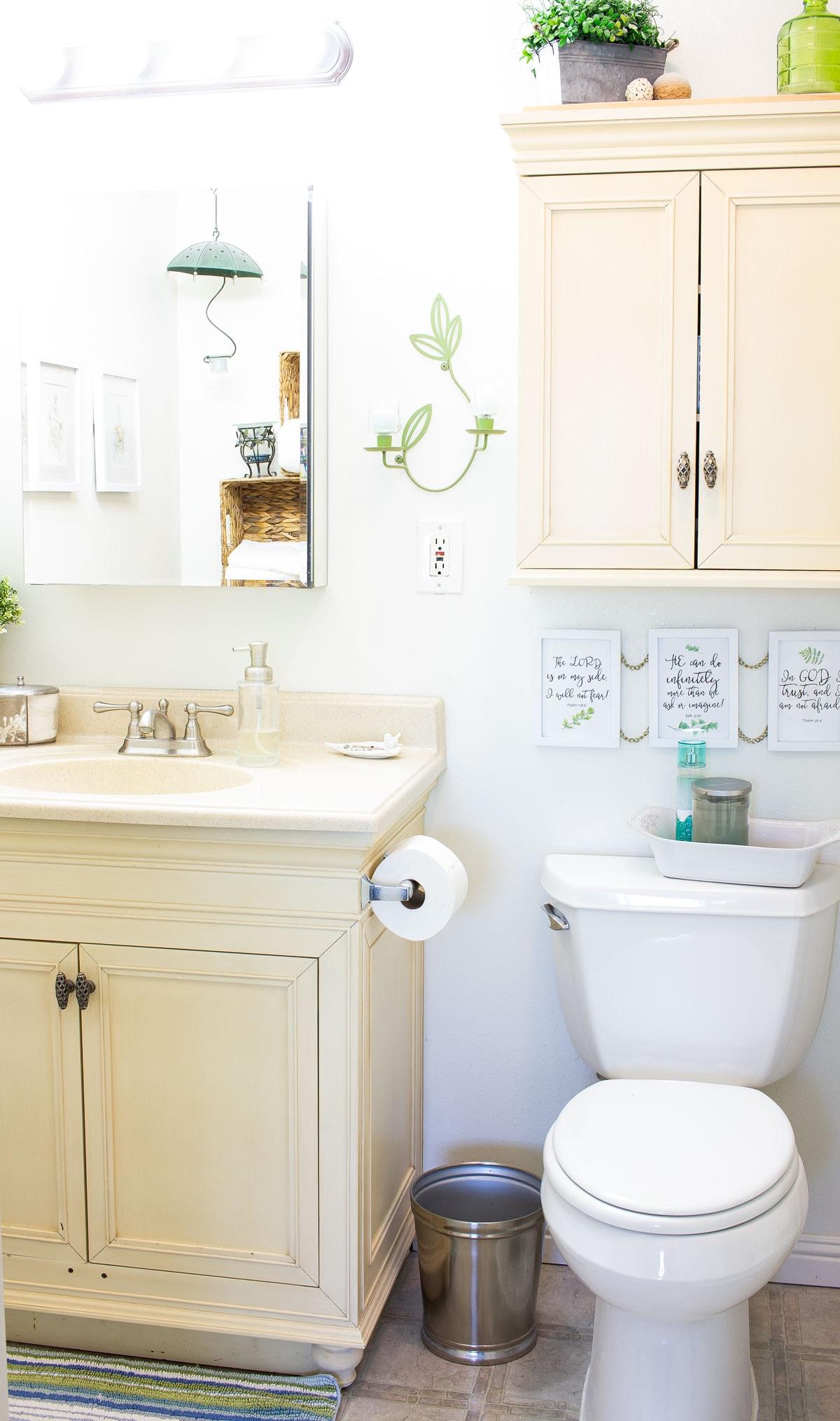 modern coastal bathroom makeover reveal bathroom before