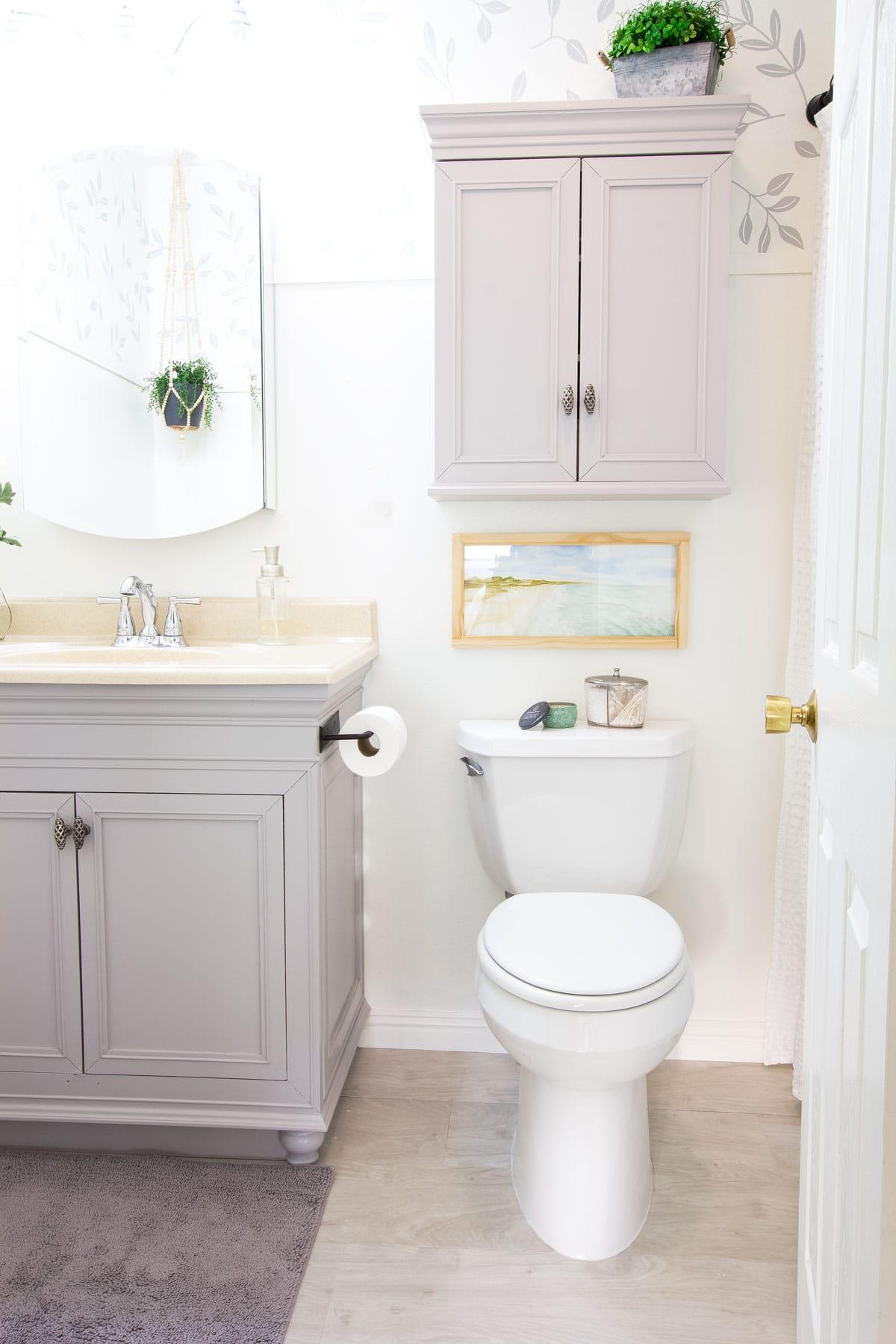 modern coastal bathroom makeover reveal bathroom after