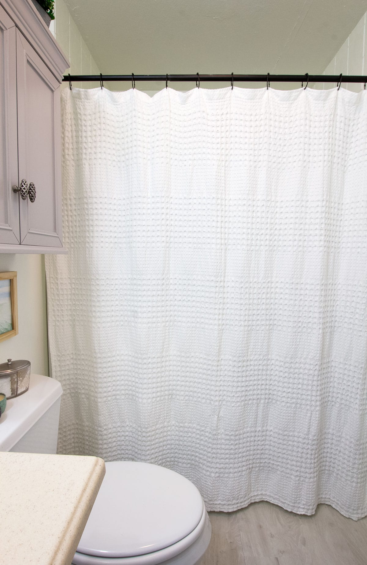 shower curtain with new update tile