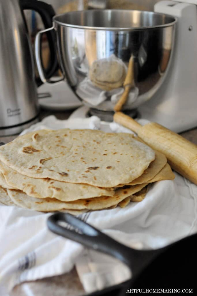 tuesday turn about 120 awesome autumn flour tortillas in a linen towel with kitchen gadgets